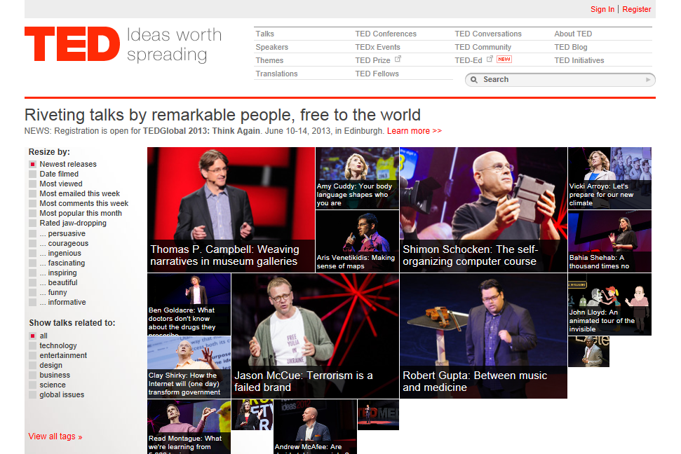 TED talks english discussion club online